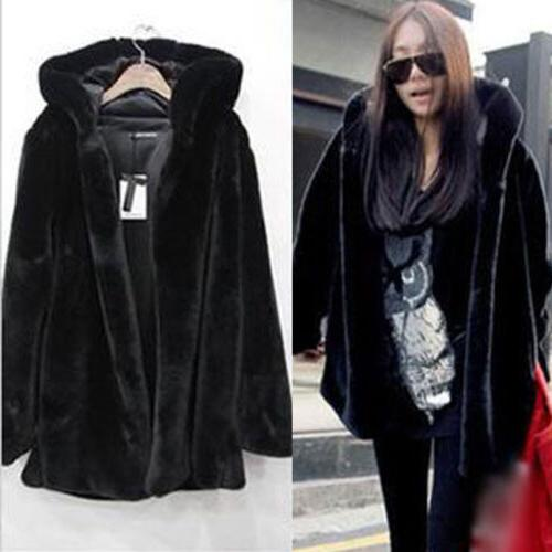 Plus Size Womens Faux Fur Jackets Parka Warm Outwear
