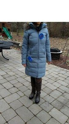 Columbia Women Winter Down Jacket Coat Parka L Large New Gra