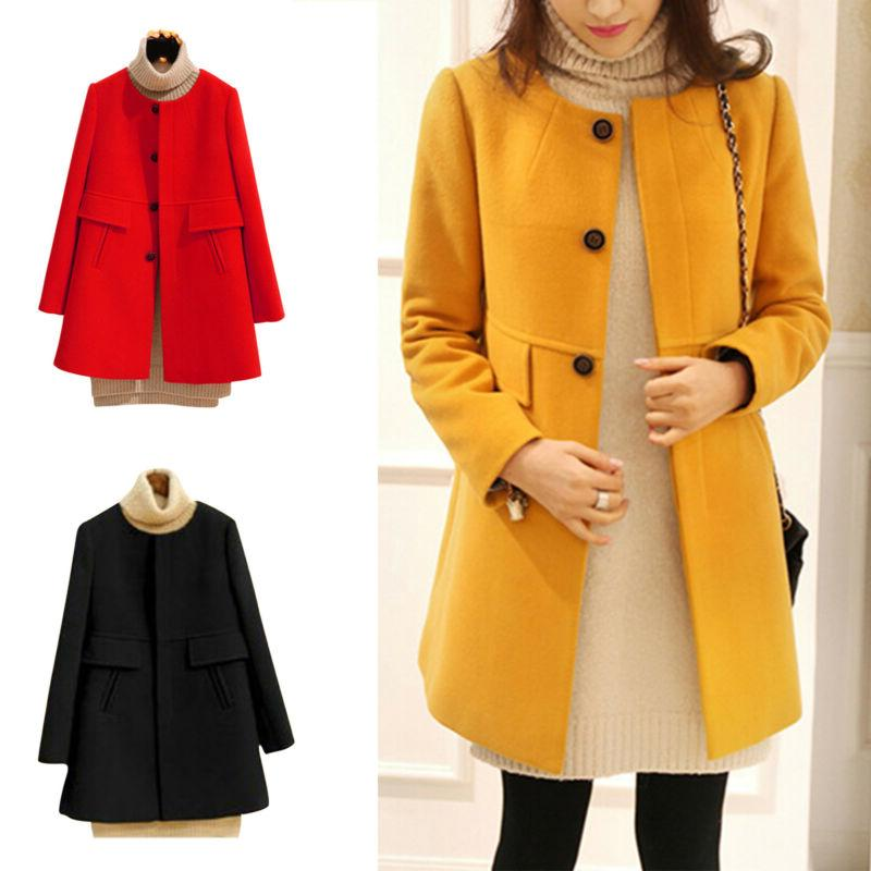 Women Fall Duffle Coat Button