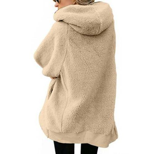 Women Fuzzy Coat Fleece Outerwear