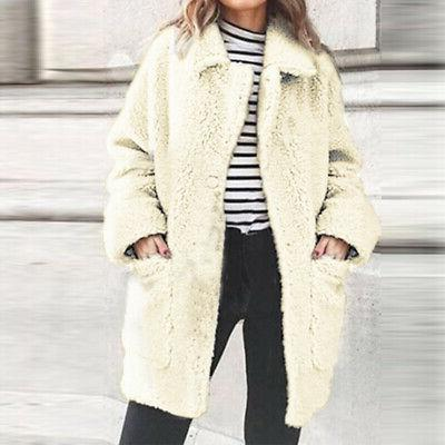 Women Fur Fleece Oversized Cardigan Sale