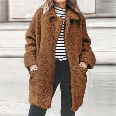 Fur Fleece Jacket Cardigan Size Coats Sale