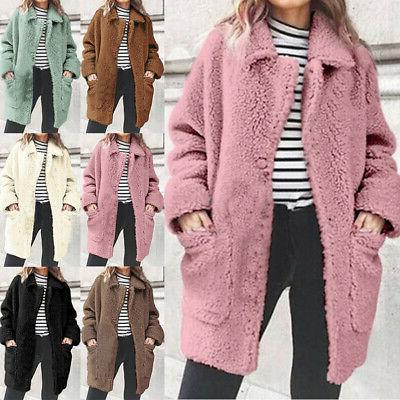 Women Winter Warm Fur Fleece Cardigan Plus Sale