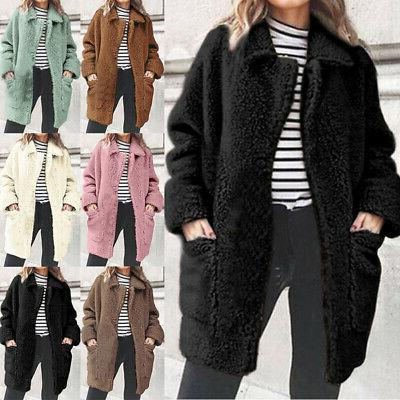 women winter warm faux fur fleece oversized