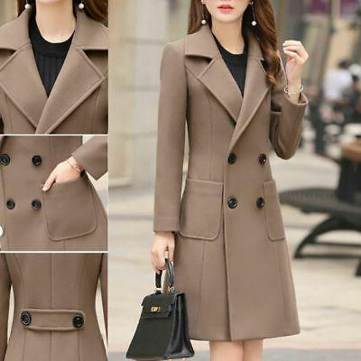 Women Warm Long Trench Parka US