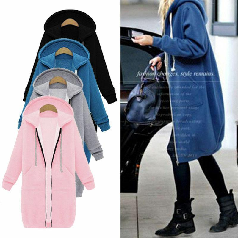 Sweater Long Jacket Sweatshirt Coat Plus Size