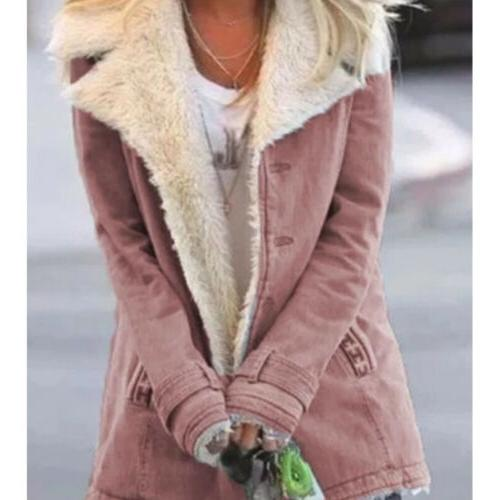 Womens Casual Winter Coats Parka Ladies Warm Faux
