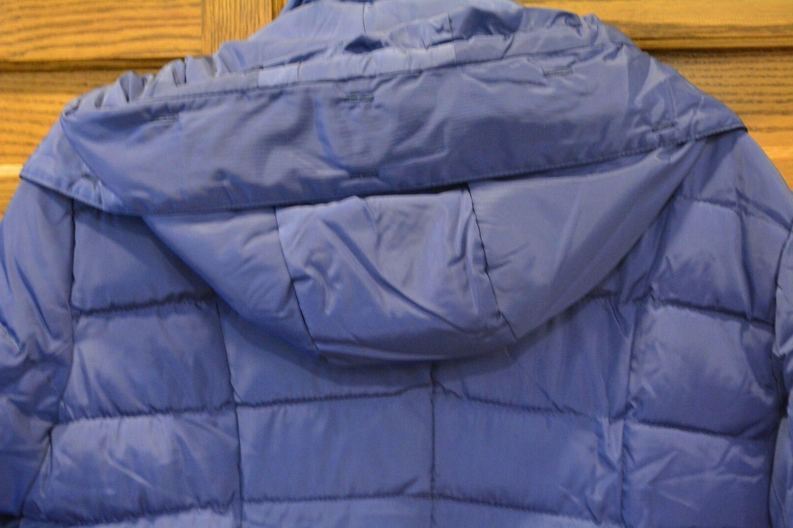 Womens Filled Winter Parka Coat Blue Top Quality