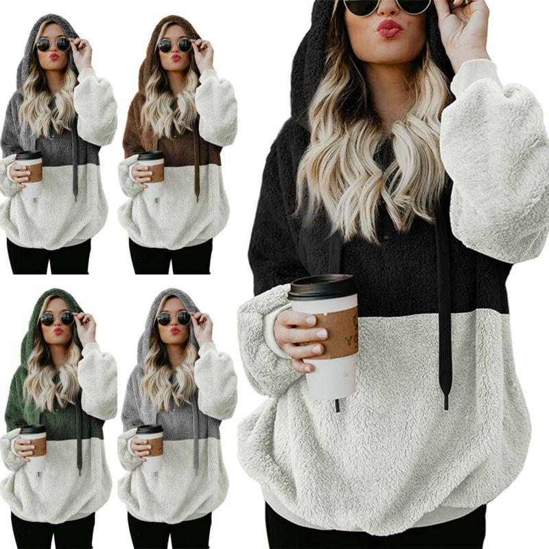 Women's Fur Teddy Bear Fleece Jacket Sweater