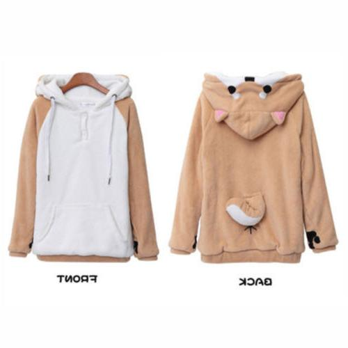 Womens Girls Hoodie Coat Pullover Christmas Casual Home