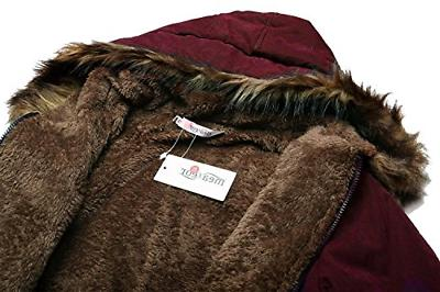 Beyove Womens Winter Faux Fur Parkas Coats