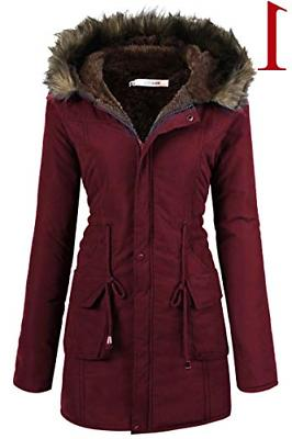 Beyove Womens Hooded Winter Lined Parkas Long