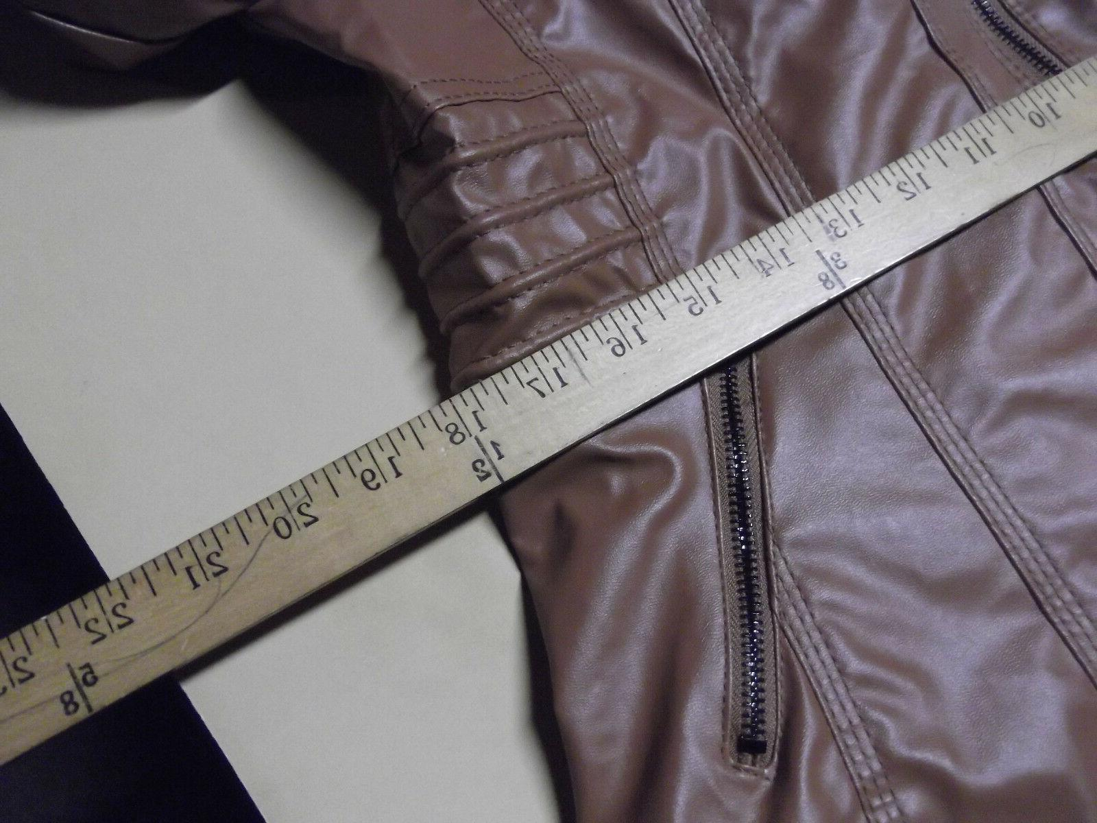 Womens Leather Hooded Slim Parka Overcoat Trench Warm Winter