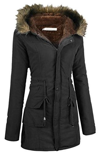 Beyove Warm Faux Lined Parkas Coats