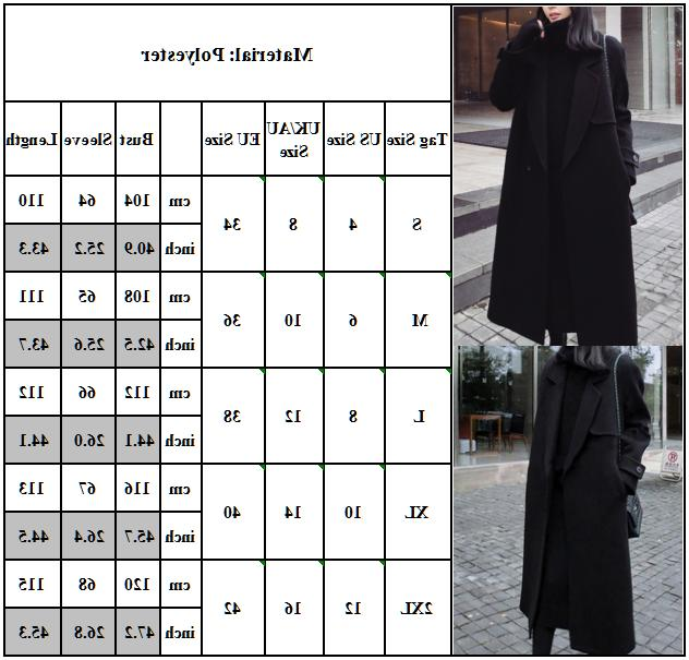 Womens Overcoat Trench Winter Jacket