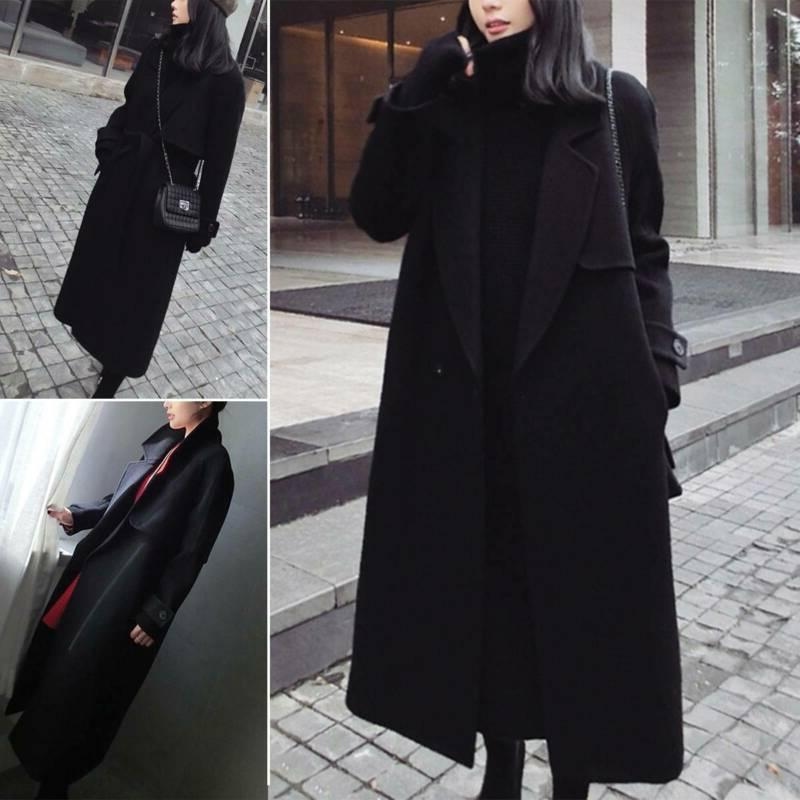 Womens Overcoat Trench Jacket Cardigan