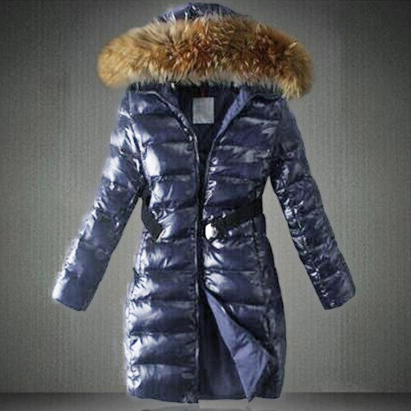 Womens PADDED JACKET COLLAR Quilted Puffer Winter Parka Belt