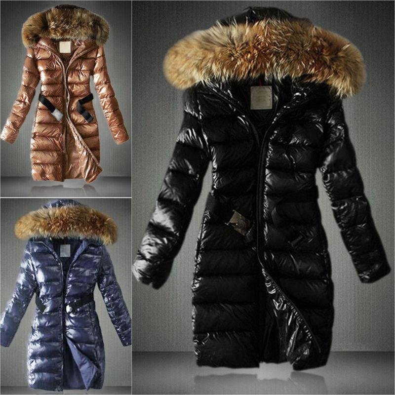 womens padded jacket fur collar coat quilted