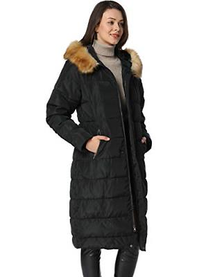 iLoveSIA Womens Coat with Faux Black US