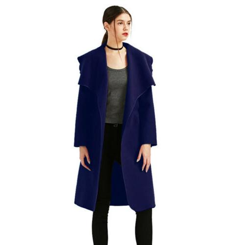 Womens Trench Coat Long Jacket US