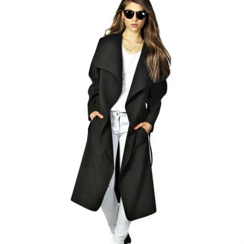 Womens Trench Long Jacket US