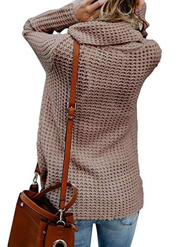 Inorin Womens Cowl Cable Knit Pullover