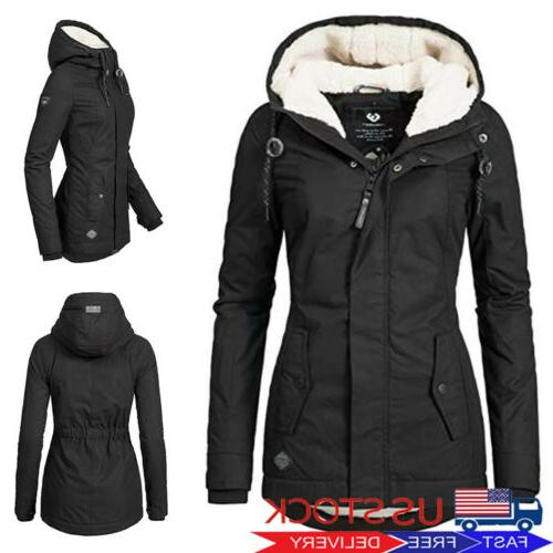 womens thicken hooded warm coat jacket trench