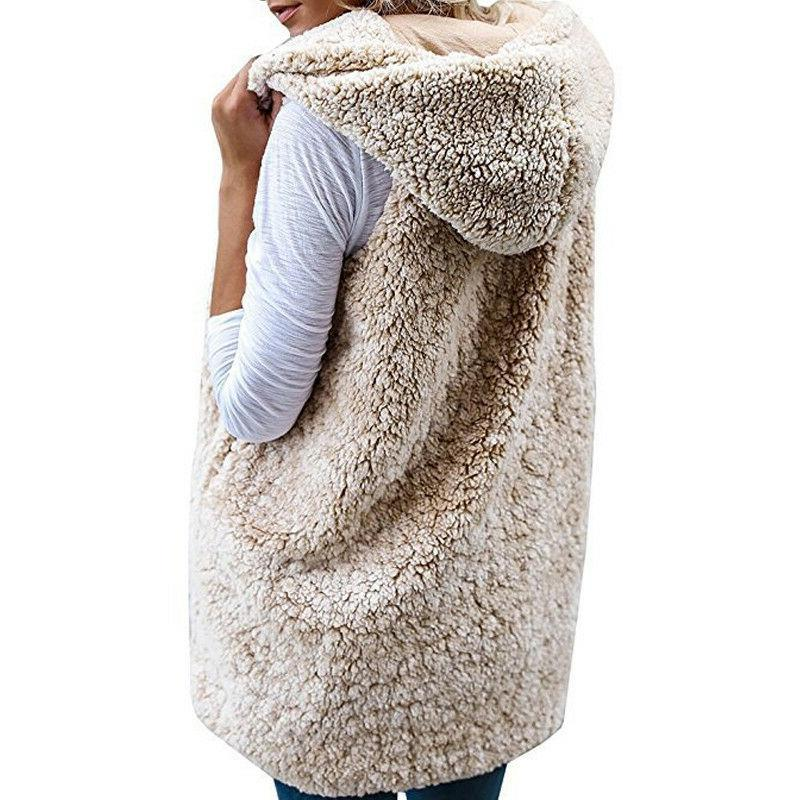 Womens Vest Winter Warm Hoodies Gilet Sleeveless Coats