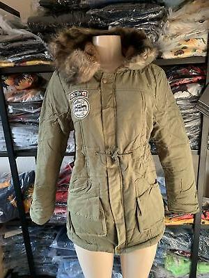 Womens Long Fur Slim Winter Parka Outwear Coats w