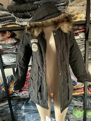 Fur Hooded Jacket Slim Coats w
