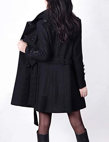 Tanming Winter Casual Lapel Wool Double Breasted Coat