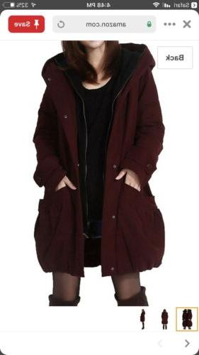 womens winter coat outerwear hoodie with big