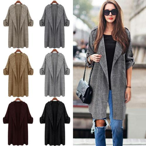 Womens Overcoat Long Trench Thick Warm
