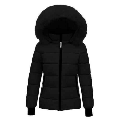 US Women Winter Quilted Coat Outwear