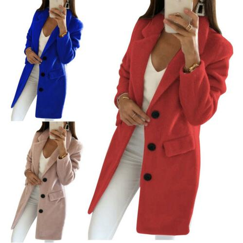 Womens Long Elegant Trench Parka
