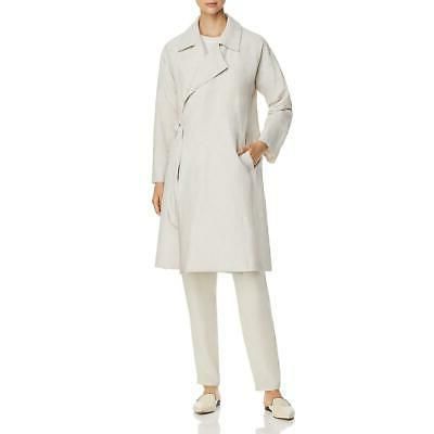 womens woven wrap jacket trench coat outerwear