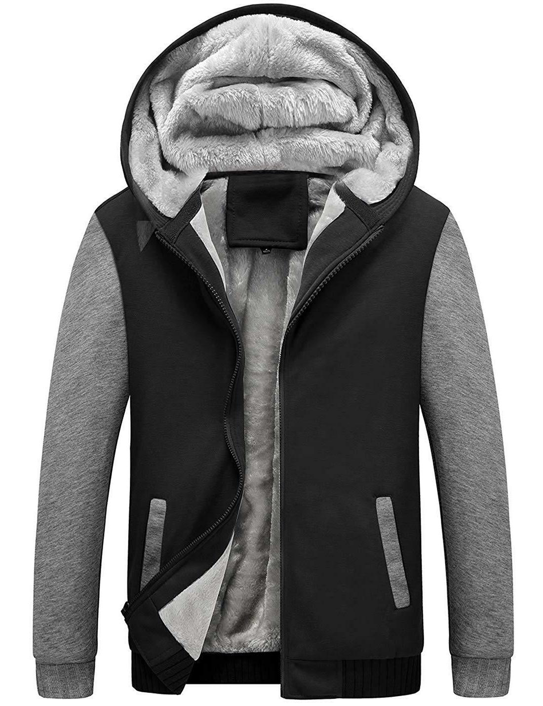 Yeokou Winter Thicken Fleece Sherpa Zipper Hoodie