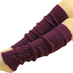 Leg Warmers,Haoricu Women Fall Winter Knit Crochet Fashion L