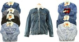 Levi's Trucker Jean Jacket Snap Front Fleece Sherpa Lined Le