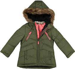 London Fog Little Girls' Winter Jacket Coat with Removable V