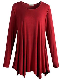 long sleeve flattering comfy tunic