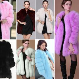 Luxury Women Warm Winter Casual Faux Fur Parka Coat Overcoat