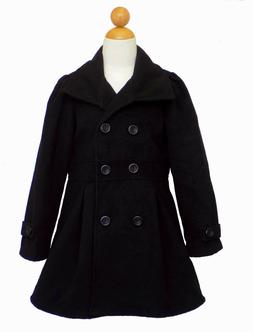 MADE IN USA WINTER CHRISTMAS , GIRLS DRESS COAT JACKET, BLAC