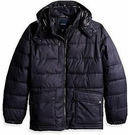 Nautica Men's Big and Tall Brushed Hooded Puffer Parka
