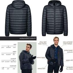 Wantdo Men'S Hooded Packable Down Jacket Lightweight Winter