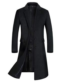 men s long slim peacoat winter business