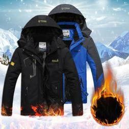 Men's Outdoor Hiking Snow Jacket Coat FLeece Winter Warm Sno