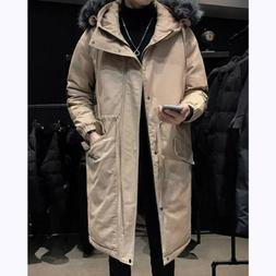 Men's Parka Coat Cotton Padded Outwear Quilted Jacket Thick