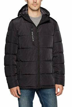 Nautica Men's Quilted Hooded Parka Jacket Black Size M