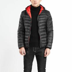 Men's Ultralight Hoodie Down Jacket Winter Hooded Puffer Out